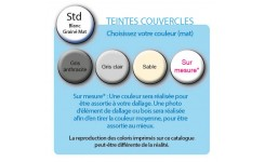 Option couvercle mur filtrant SUPREME - coloris Gris Anthracite